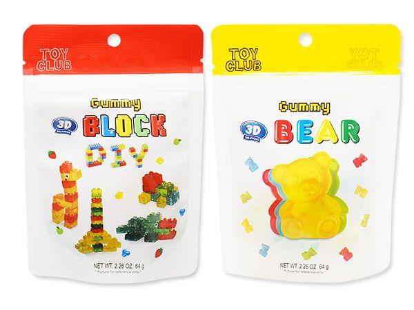 TOY CLUB~3D積木/小熊 造型軟糖(64g) 款式可選【D050304】進口零食/團購/零嘴