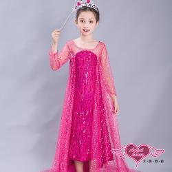 天使霓裳 角色扮演 魔法仙子 兒童萬聖節派對表演服(桃紅) QC1626