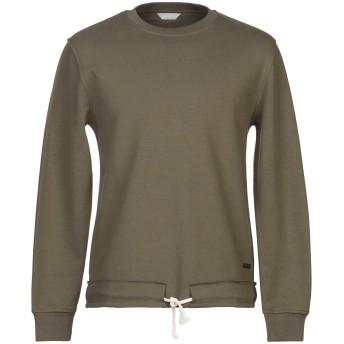 《セール開催中》SSEINSE メンズ スウェットシャツ ミリタリーグリーン S コットン 85% / ポリエステル 15%