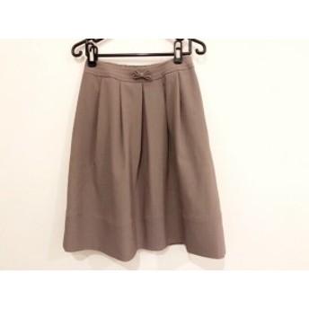 トゥービーシック TO BE CHIC スカート サイズ38 M レディース 美品 グレーブラウン リボン【中古】