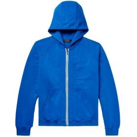 《期間限定セール開催中!》HAIDER ACKERMANN メンズ スウェットシャツ ブライトブルー L コットン 100% / ポリウレタン
