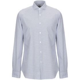 《9/20まで! 限定セール開催中》GUGLIELMINOTTI メンズ シャツ ブルー 41 コットン 100%