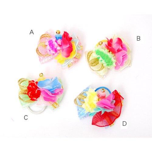 《日本進口寵物頭花》紗質小花款-4色