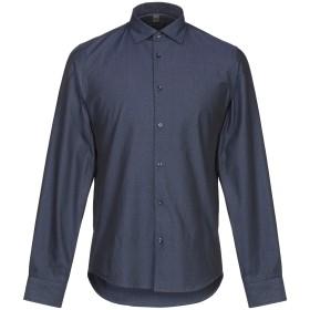 《期間限定セール開催中!》LUCA BERTELLI メンズ シャツ ダークブルー S コットン 100%