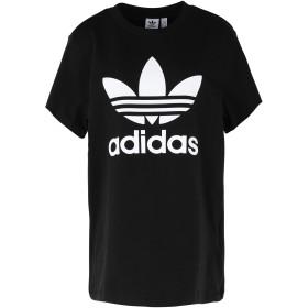 《セール開催中》ADIDAS ORIGINALS レディース T シャツ ブラック 30 コットン 100% BOYFRIEND TEE