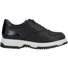《9/20まで! 限定セール開催中》EMPORIO ARMANI メンズ スニーカー&テニスシューズ(ローカット) ブラック 9 革 / 紡績繊維
