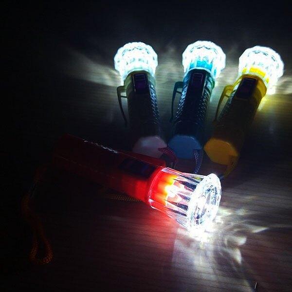 A4056 彩色魚眼LED手電筒(小) LED燈 夾帽燈 帽沿燈 夜釣夜遊 隨身手電筒 手電筒吊飾 禮品贈品