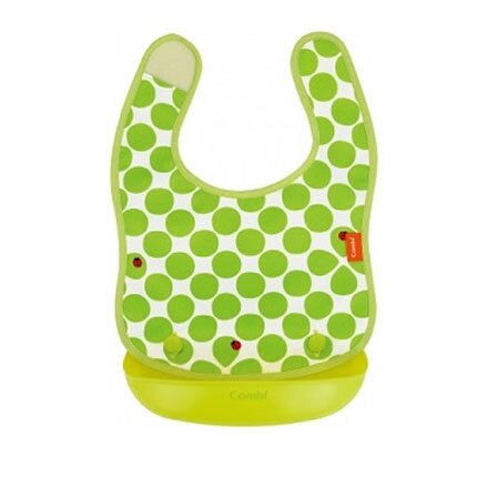 Combi 康貝 Baby Label 新防污口袋圍兜 (綠瓢蟲)【悅兒園婦幼生活館】