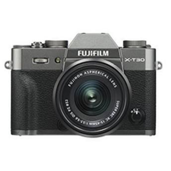 【フジフイルム】 小型一眼カメラ 1本レンズキット(電動ズーム) 4K X-T30LK-1545-CS デジタル一眼カメラ