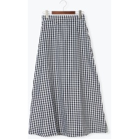 【6,000円(税込)以上のお買物で全国送料無料。】ギンガムマキシフレアスカート