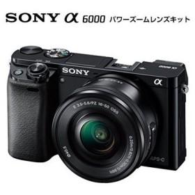 SONY α6000 ILCE-6000L パワーズームレンズキット ブラック [デジタル一眼カメラ (2430万画素)]