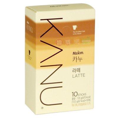 【韓購網】韓國Maxim KANU拿鐵(10入)*即溶無糖拿鐵咖啡*Dongsuh孔劉代言LATTE