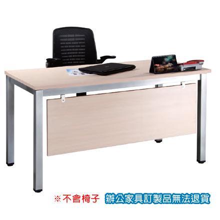 TSA烤銀方形腳 辦公桌 TSA-140 白橡木 /張
