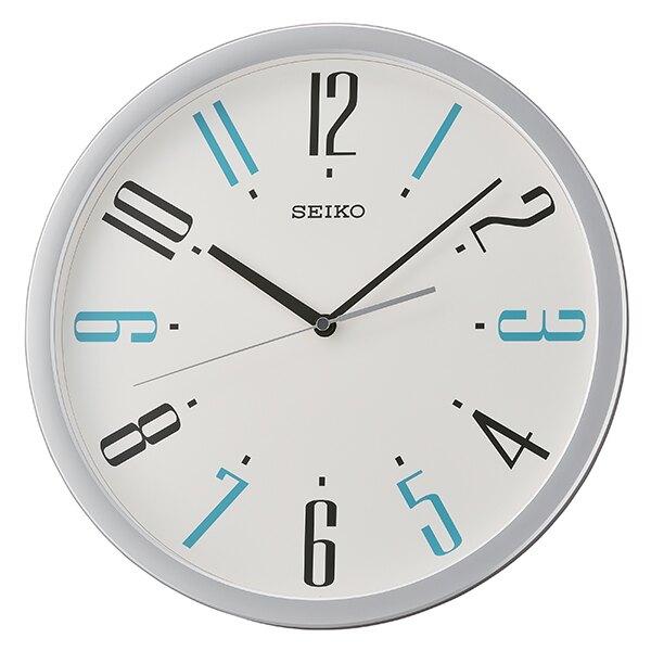 Seiko 精工鐘 (QXA729S) 城市簡約風格圓形掛鐘/ 36 cm