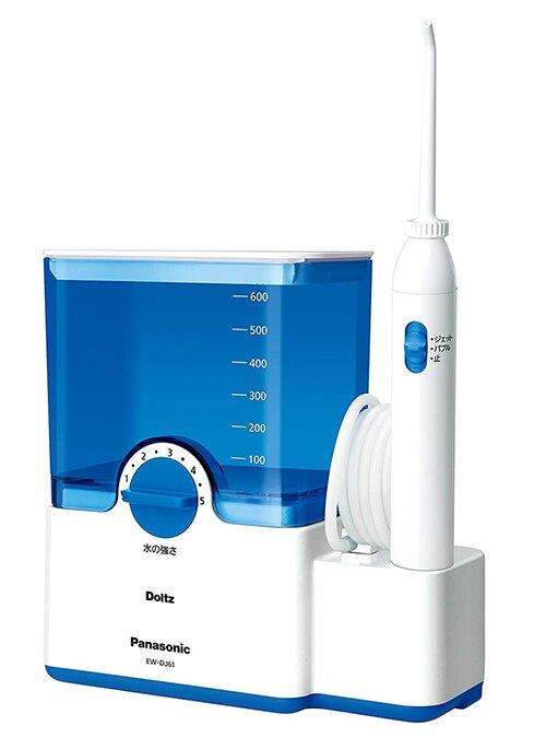Panasonic【日本代購】 松下 高效能電動沖牙機 牙縫清潔器EW - dj61