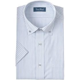 メンズ 【在庫限り】トロイブロス 形態安定ストライプボタンダウンシャツ(ゆったりシルエット)(41cmのみ)