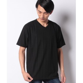 【25%OFF】 マルカワ 大きいサイズ ケーブル編み柄 半袖Tシャツ メンズ ブラック 4L 【MARUKAWA】 【タイムセール開催中】