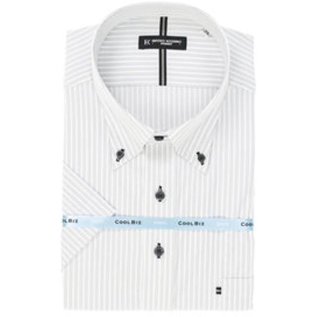 【GRAND-BACK:トップス】【大きいサイズ】HIROKO KOSHINO HOMME ハイブリットセンサーボタンダウン半袖ビジネスドレスシャツ