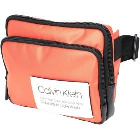 《期間限定セール開催中!》CALVIN KLEIN メンズ バックパック&ヒップバッグ オレンジ ポリエステル 75% / ポリウレタン 25% AVENUE COMPACT WAIST
