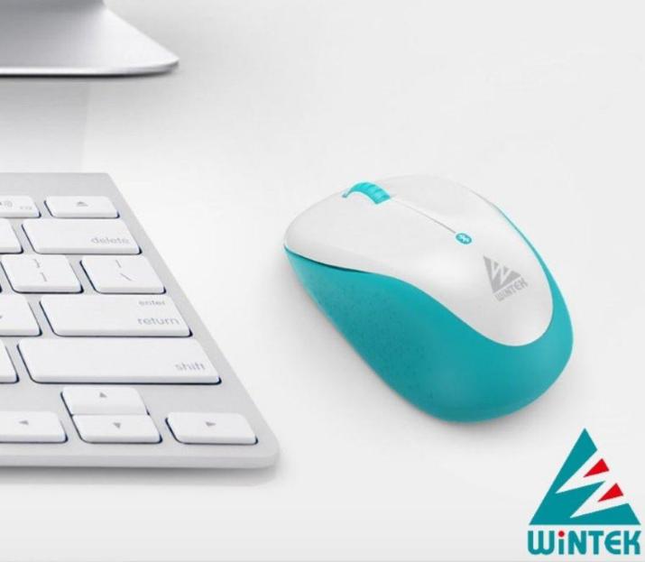 WiNTEK 文鎧 6100-3 藍芽無線滑鼠-白綠色 [富廉網]