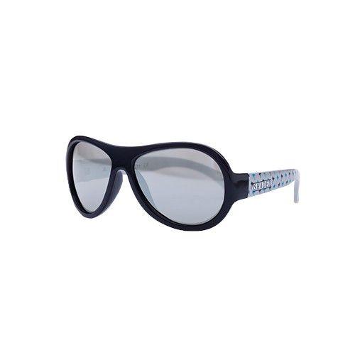 SHADEZ - 可彎折嬰幼兒時尚太陽眼鏡-藍灰椰子樹 (7Y~12Y)