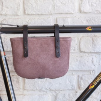 Leather cycle frame bag ( brown )