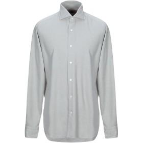 《期間限定 セール開催中》DANDYLIFE by BARBA メンズ シャツ グレー 38 コットン 100%