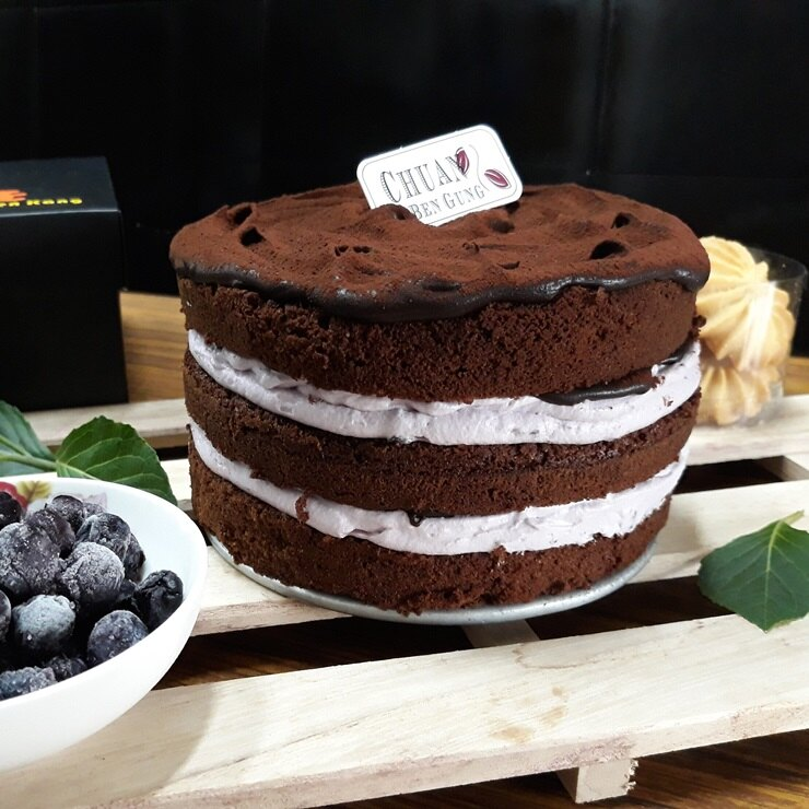 ❤️藍莓生巧克蛋糕❤️ 6吋~~[聚會甜點~彌月蛋糕~團購美食~伴手禮]▶全館滿499免運