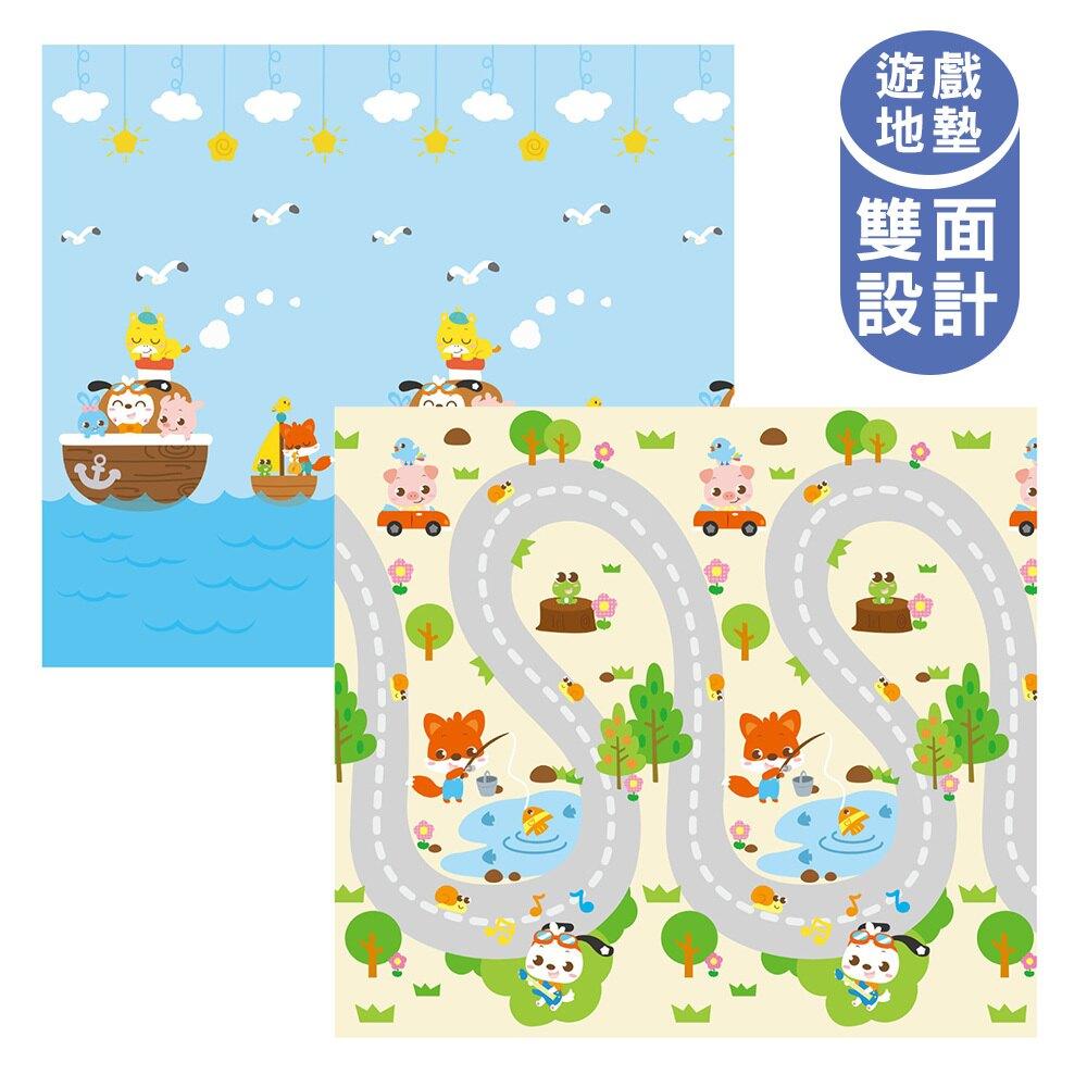 泰山美龍 兒童遊戲地墊 (趣味公路+動物方舟) 180*200*1.5cm【淘氣寶寶】