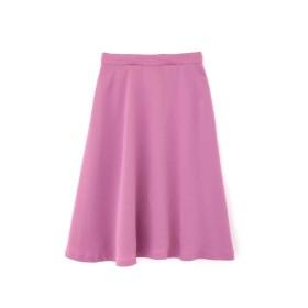 【公式/NATURAL BEAUTY BASIC】[洗える]カラーフレアスカート/女性/スカート/パープル/サイズ:S/(表生地)ポリエステル 100%(裏生地)ポリエステル 100%