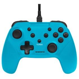ゲームテックSwitch対応連射コントローラーSW ブルーISMSW050