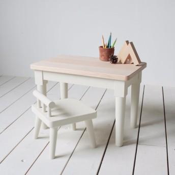 白い子供机と椅子のセット