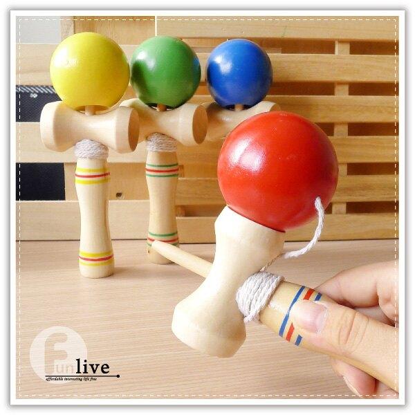 木製劍玉-大 日月球 日本童玩 劍玉 劍球 技巧球 懷舊童玩