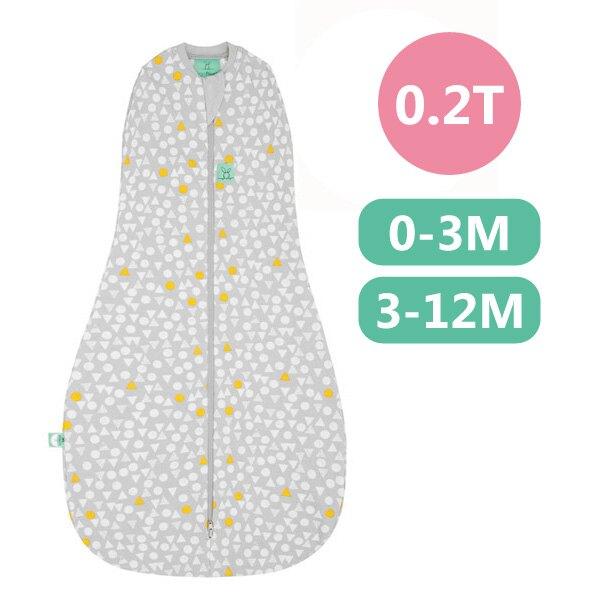 ergoPouch ergoCocoon 二合一有機舒眠包巾0.2T(夏季款)(0-3M/3-12M) 懶人包巾-雪寶灰 全館滿5千贈星寶貝防曬乳效期至21年11月