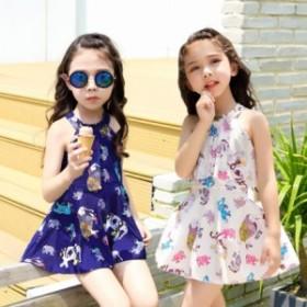子供水着 ワンピース水着 可愛い 女の子 ラッシュガード 子ども スイム 温泉 リゾート ジュニア キッズ 海 プール スイミング 花柄