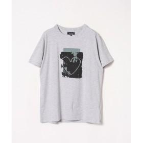 アニエスベー SJ47 TS アーティストTシャツ ユニセックス グレー XXL 【agnes b.】