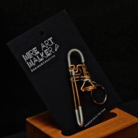 【楽器ワイヤーストラップ】トロンボーン|音楽雑貨|クラシック音楽|Music Gift