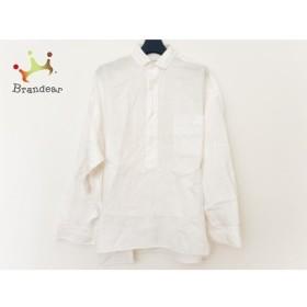 グラジック le glazik 七分袖ポロシャツ サイズ36 S メンズ 白 新着 20190625