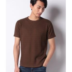 (ikka/イッカ)ローゲージ鹿の子プルオーバーTシャツ/メンズ ブラウン
