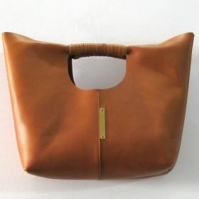 COIL HANDLE BAG(S) caramel brown 本革製 コイルハンドルバッグ