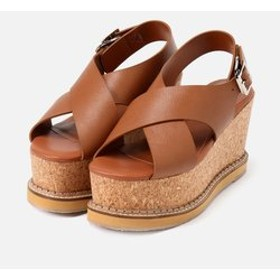 【AZUL by moussy:シューズ】CORKHEEL WEDGE SANDALS