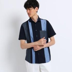 [マルイ]【セール】ストライプ 切り替え 前開き ポロシャツ/タケオキクチ(TAKEO KIKUCHI)