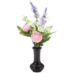 【仏壇用の仏花・造花】千の花(ピンク) S-14 花立3寸付