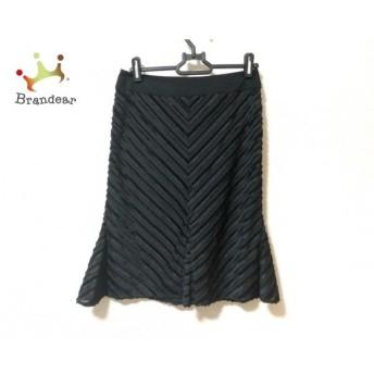マテリア MATERIA スカート サイズ38 M レディース 美品 黒 ヘリンボーン 新着 20190622