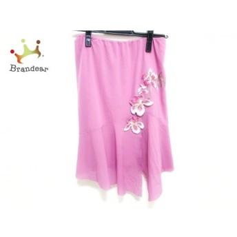 ヴィヴィアンタム スカート サイズ0 XS レディース 美品 ピンク×マルチ フラワー/刺繍 新着 20190625