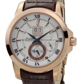 セイコー SEIKO SNP096P1 プルミエ パーペチュアル キネティック シルバー×ゴールド メンズ 腕時計 ブランド