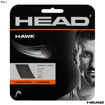 ヘッド HEAD  テニスガット 単張り ホーク(HAWK) 125 グレー 281103