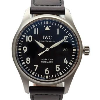 【中古SA/極美品】IWC インターナショナルウォッチカンパニー パイロットウォッチ マーク18 AT 腕時計 IW327009 シルバー   鑑定書付 20197345