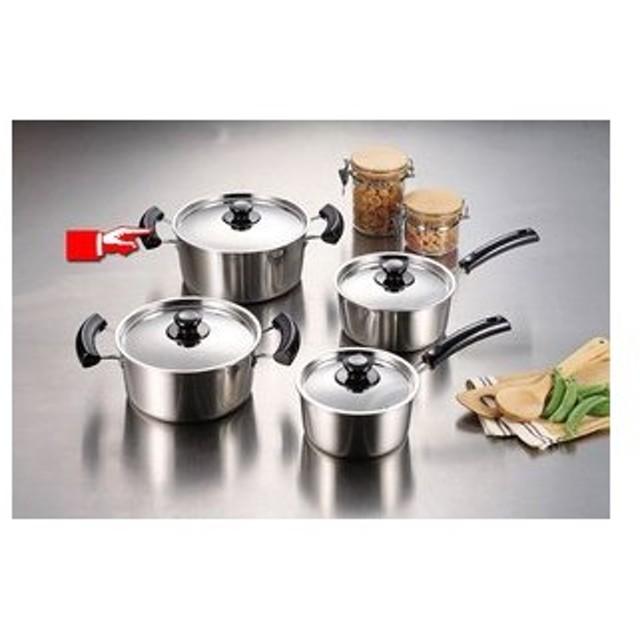 パール金属 グランディーヌ アルミ3層鋼両手鍋22cm [ IH対応 オール熱源対応 ] 熱伝導・保温性に優れています 調理器具 厨房用品 厨房機器