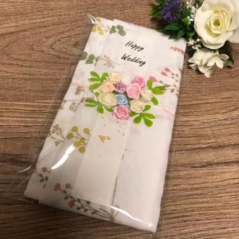再販!花柄 ドライフラワー 手ぬぐい 祝儀袋 布の祝儀袋 てぬぐい